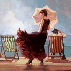 Dancing on the Deck by Mark Spain - Hand Finished Limited Edition on Canvas sized 19x19 inches. Available from Whitewall Galleries
